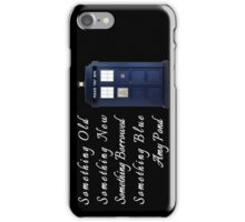 Doctor Who - Amy's Wedding Something Blue iPhone Case/Skin