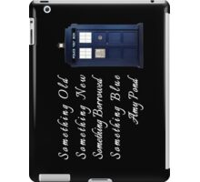 Doctor Who - Amy's Wedding Something Blue iPad Case/Skin