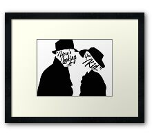 """Here's looking at you, Kid."" Framed Print"
