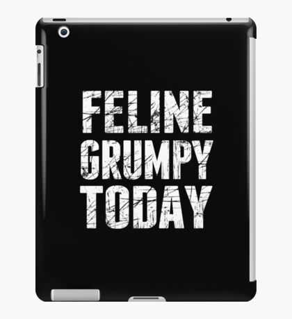 A Feline Feeling Grumpy Today iPad Case/Skin