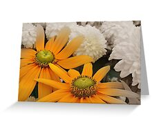 Yellow Duplicity Greeting Card