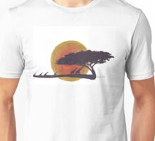 African Sunset silhouettes Unisex T-Shirt