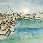 Constitution Dock Hobart Tas. Australia by Margaret Morgan (Watkins)