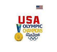 USA Basketball Winner Gold Medals Photographic Print