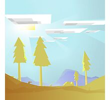 Minecraft Landscape Photographic Print