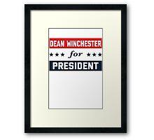 Dean Winchester For President Framed Print