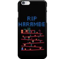 RIP Harambe Donkey Kong Mario 64 Bit iPhone Case/Skin