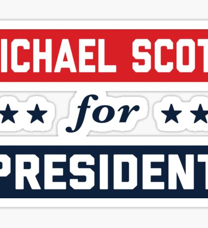Michael Scott For President Sticker