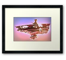Ancient Glitch Temple Framed Print