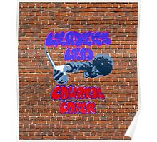 Netflix's The Get Down, Leaders Lead Cowards Cower Graffiti Brick Wall Poster