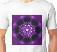 Center Light Purple Satin Mandala Unisex T-Shirt