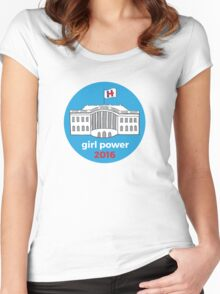 Girl Power 2016 Women's Fitted Scoop T-Shirt