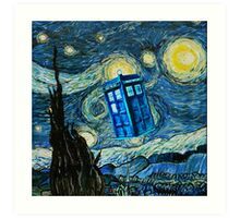 British Blue phone box painting Art Print