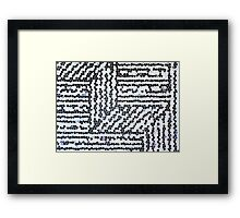 Black & White Scales - Speckled Framed Print