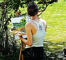"""""""Artist at work"""" by Malcolm Chant"""