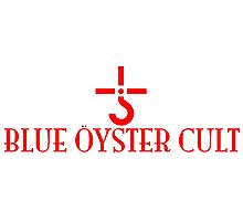 BLUE OYSTER CULT - LIMITED EDITION FONT LOGO RED Photographic Print