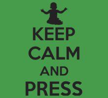 Keep calm and press Kids Tee
