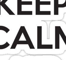 Keep calm and press Sticker