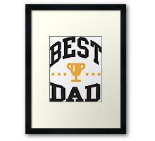 Best dad Framed Print