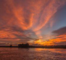 Mekong Sunset 3 by Werner Padarin