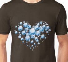 Godly, Loving and Passionate Blue Crystals Heart Unisex T-Shirt