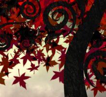 Crimson Fall Sticker