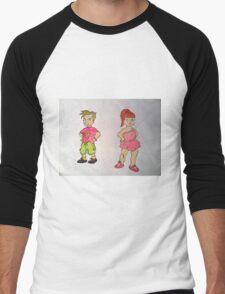 A boy and a girl Men's Baseball ¾ T-Shirt