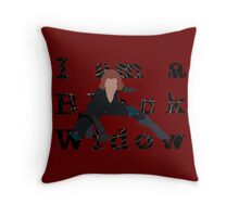 I am a Black Widow (Ver 2) Throw Pillow