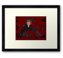 I am a Black Widow (Ver 2) Framed Print