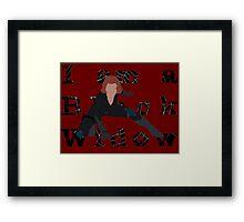 I am a Black Widow (Ver 2) Framed Print