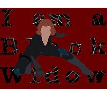 I am a Black Widow (Ver 2) Photographic Print