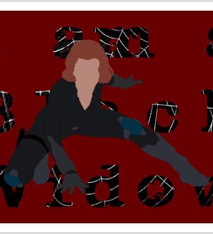 I am a Black Widow (Ver 2) Sticker
