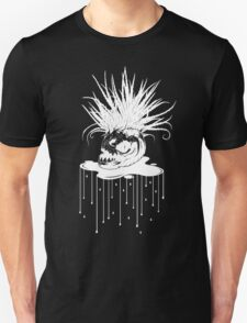 WHT on BLK: Piranha Planet  Unisex T-Shirt