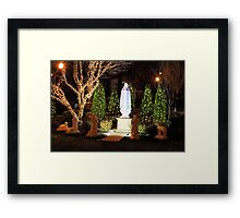 The apparition - Christmas 2013 Framed Print