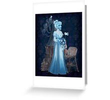 Black Widow Bride in the Attic Greeting Card