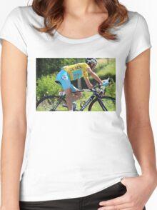 Vincenzo Nibali - Tour de France 2014 Women's Fitted Scoop T-Shirt