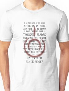 Unlimited Blade Works (Fate/Stay Night) Unisex T-Shirt