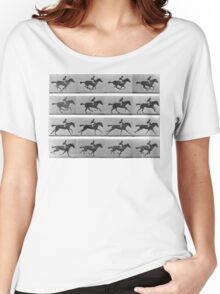 Galloping Horse 1878 Eadweard Muybridge Women's Relaxed Fit T-Shirt