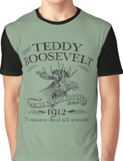 Teddy Roosevelt Bull Moose Party 1912 Presidential Campaign Graphic T-Shirt