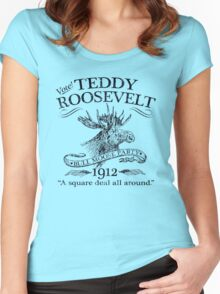 Teddy Roosevelt Bull Moose Party 1912 Presidential Campaign Women's Fitted Scoop T-Shirt