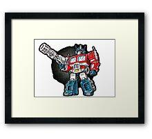 Optimus Prime Chibi - No background Framed Print