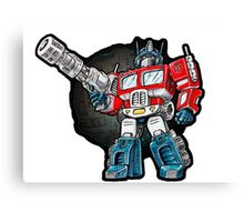 Optimus Prime Chibi - No background Canvas Print