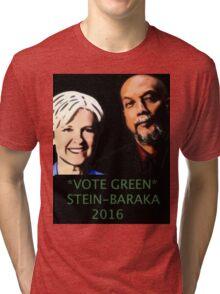 STEIN-BARAKA VOTE GREEN 2016 Tri-blend T-Shirt