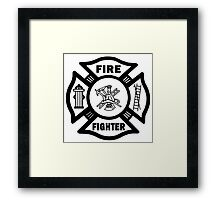 Firefighter Framed Print