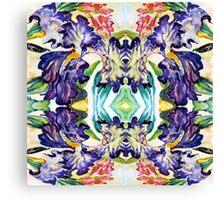 Iris Garden Abstract Watercolor Canvas Print