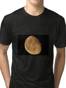 ALMOST FULL MOON WITH CRATERS Tri-blend T-Shirt