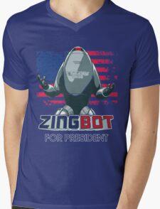 ZINGBOT FOR PRESIDENT TSHIRT Mens V-Neck T-Shirt