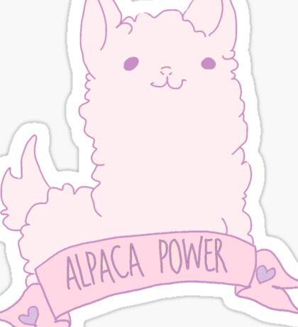 Alpaca Power Sticker