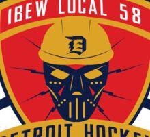 IBEW Detroit Hockey logo Sticker