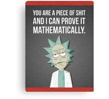 Rick And Morty - Proven Canvas Print